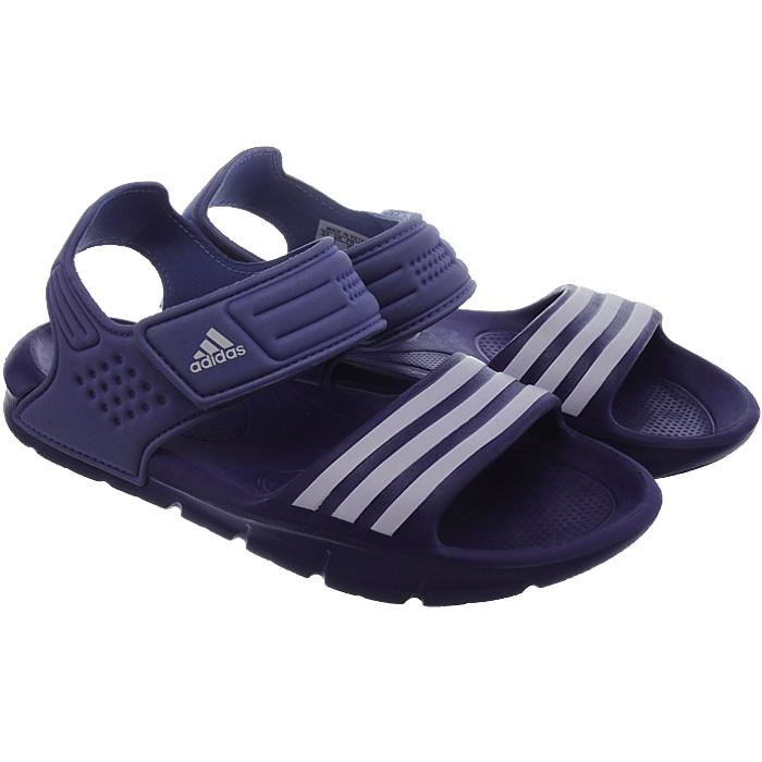 Adidas Akwah 8 Kinder Badesandale lila/pink/schwarz Pool Strandsandale NEU