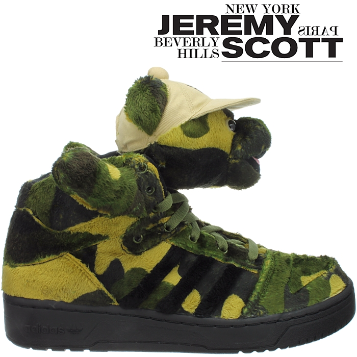 Jeremy Scott Adidas Teddy Grün Army Bear Schuhe
