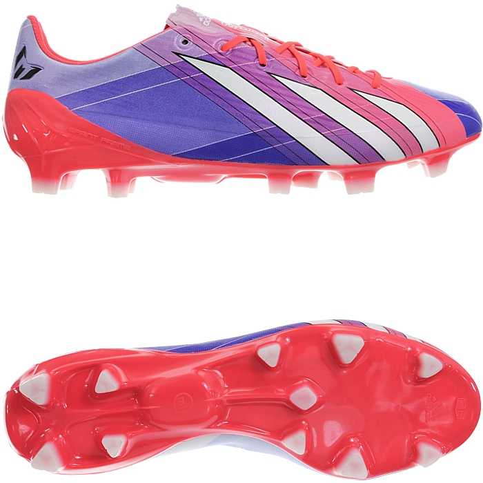 ac6838961 Details about Adidas Adizero F50 TRX FG SYN Messi red pruple men s soccer  cleats studs NEW
