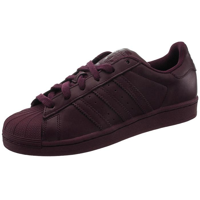 Adidas Superstar Supercolor Herren low-top Sneakers rot Leder ... 8f799ed8a0