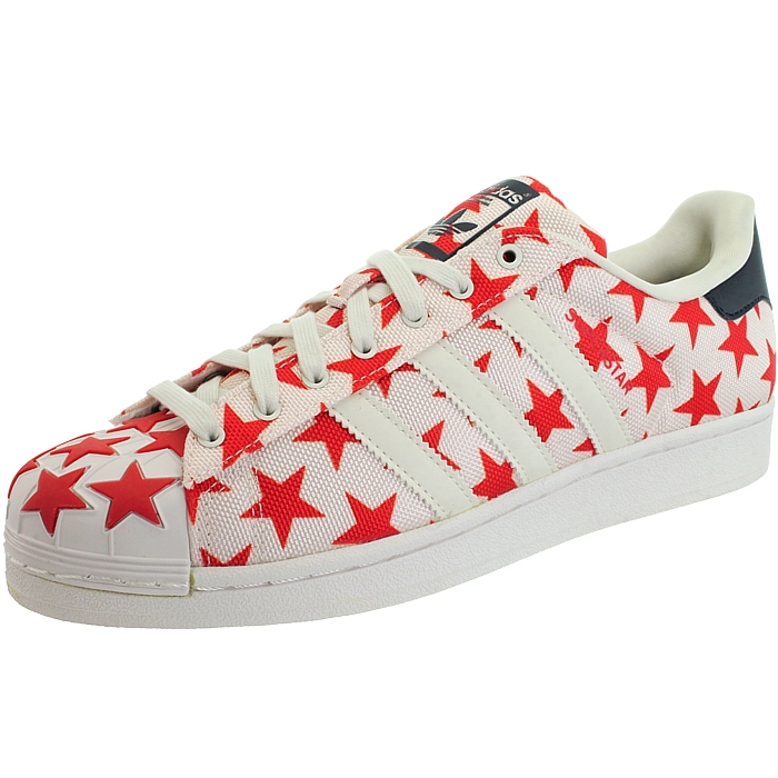 Details about Adidas Superstar Shell Toe Pack white red men's low top sneakers trainers NEW