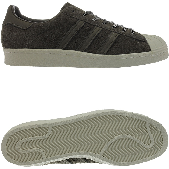 ADIDAS SUPERSTAR 80S men's low top snaekers brown suede retro classic NEW