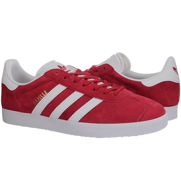 Adidas Gazelle Scarlet Footwear White Mens Suede Skateboarding Trainers Sneakers