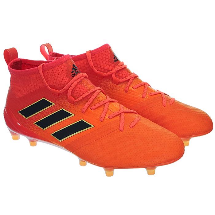 Adidas-Ace-17-1-FG-Nocken-Herren-Profi-Fusballschuhe-orange-weis-turkis-NEU miniatuur 4