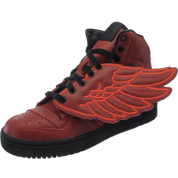 Details about Adidas JS Wings BBall men's casual shoes redorange sneakers basketball style
