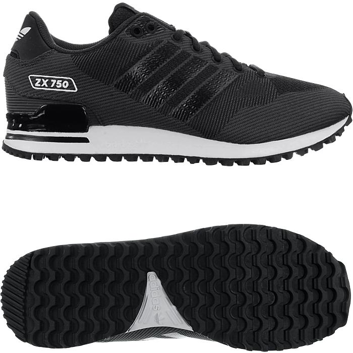 Details zu Adidas ZX 750 WV schwarz Herren Low Top Sneakers Textilgewebe Freizeitschuhe NEU