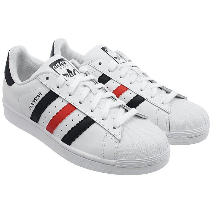 best service 1621e 01c75 ... Foundation men s sneakers white or white red blue casual NEW Adidas  Superstar Foundation men s sneakers white or white red blue casual NEW  Adidas ...