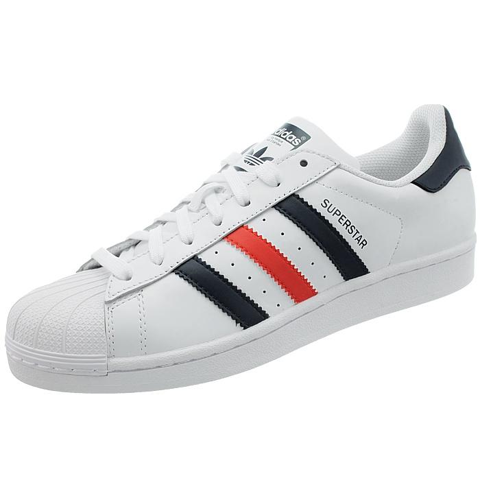 Adidas Superstar Foundation Herren Sneakers NEU weiß oder weiß/rot/blau Freizeit NEU Sneakers ad0a49