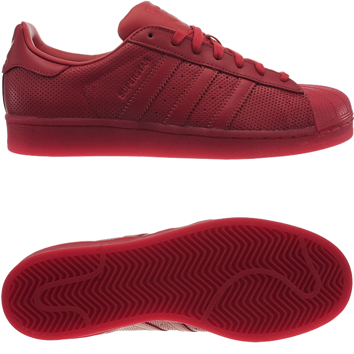 adidas Men's Superstar Adicolor, RED/RED, 10.5 M US