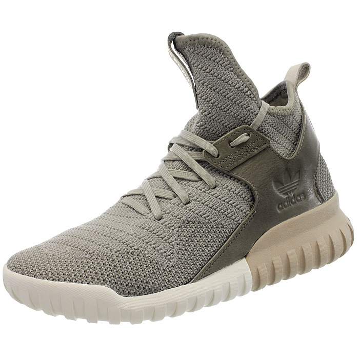 Adidas Tubular X Knit men s high-top sneakers gray-brown black ... f321811c7a0