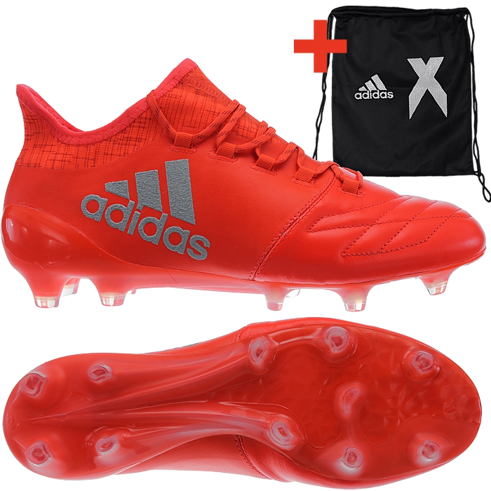 Details about Adidas X 16.1 FG Leather men's soccer cleats redsilver FG studs football NEW