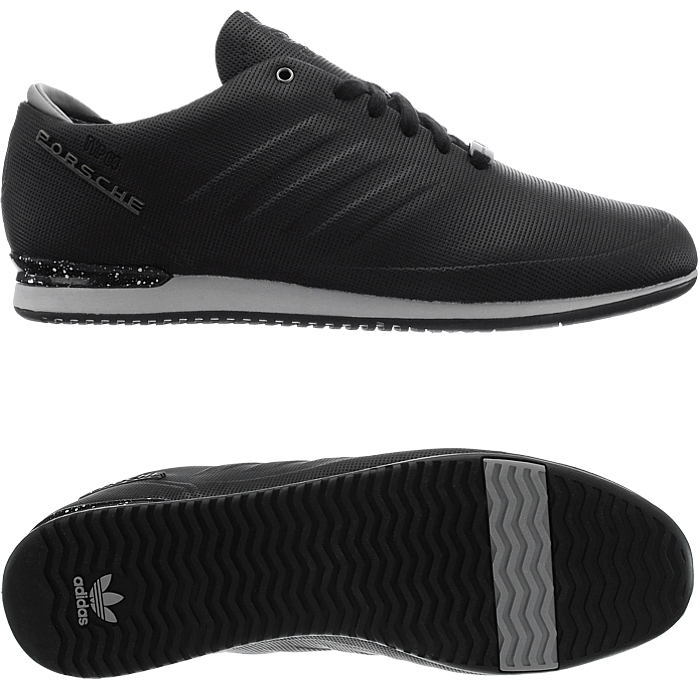 adidas porsche typ 64 sport men 39 s low top sneakers black. Black Bedroom Furniture Sets. Home Design Ideas