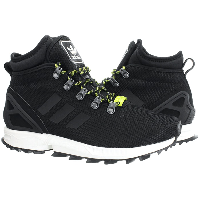 2ec3b2460 Adidas ZX Flux Winter black Men s high-top sneakers boots water ...