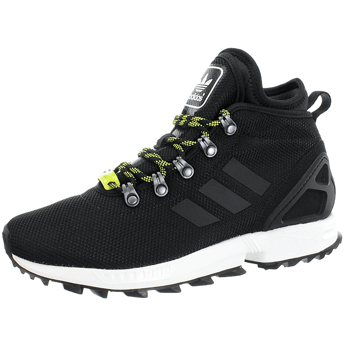 online retailer 2d6c5 e2e72 Details about Adidas ZX Flux Winter black Men's high-top sneakers boots  water resistant NEW