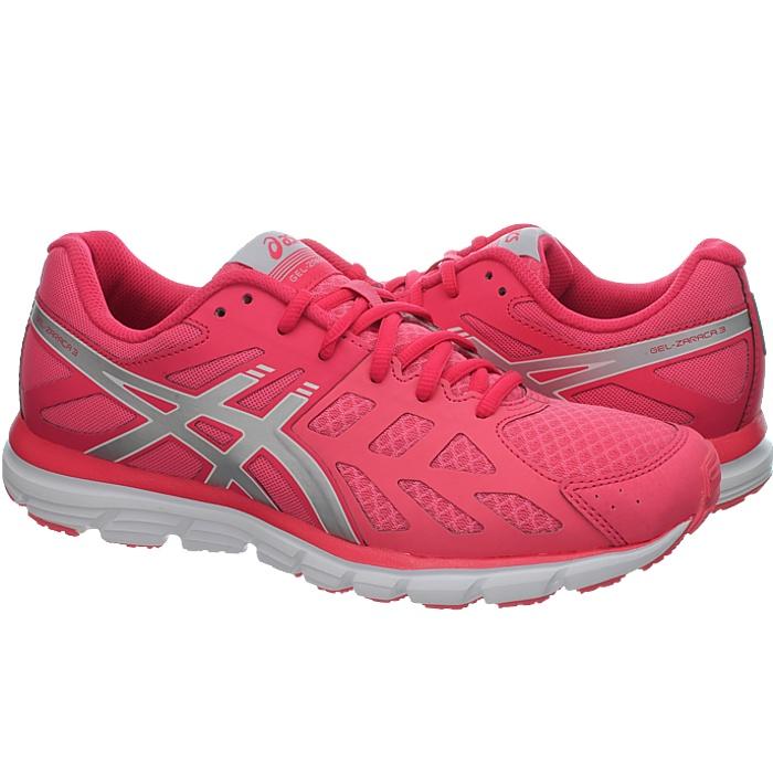 Details zu Asics Gel Zaraca 3 Pink oder Blau Damen-Laufschuhe mit  Gel-Dämpfung NEU