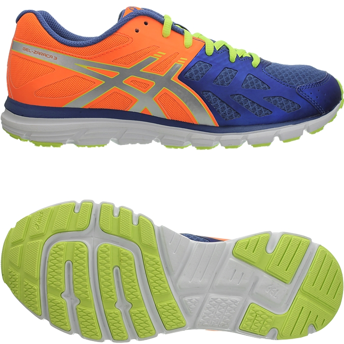 Details zu Asics Gel Zaraca 3 M schwarz od orange Herren Laufschuhe Jogging Sport Fitness