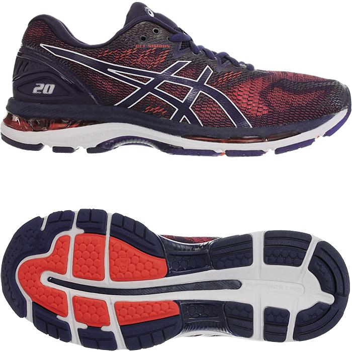 Details zu Asics Gel Nimbus Herren Laufschuhe rot schwarz Training Running Fitness NEU
