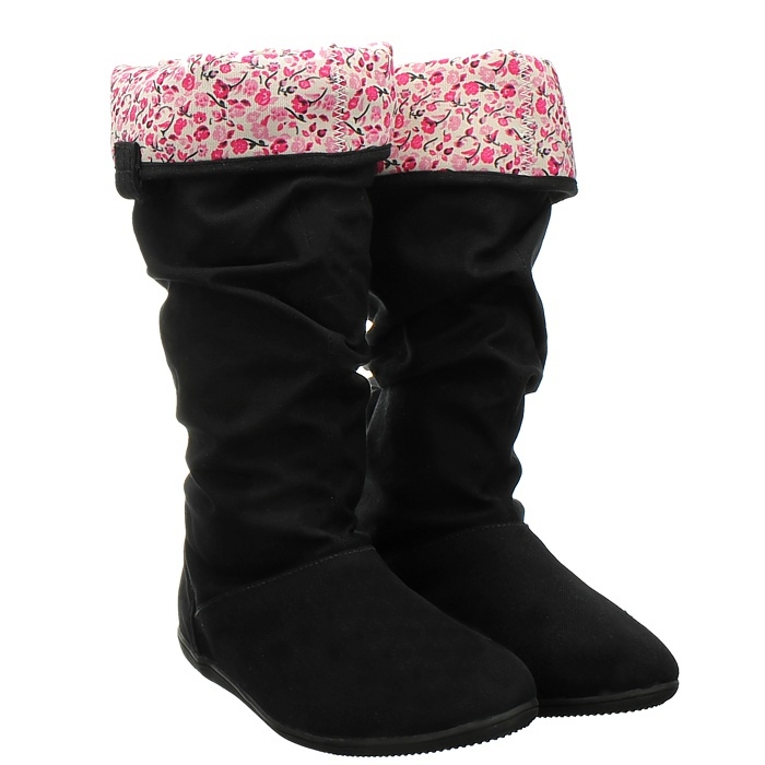 adidas qt slouch boot schwarz damen stiefel canvas boots futter pink 1 3 ebay. Black Bedroom Furniture Sets. Home Design Ideas