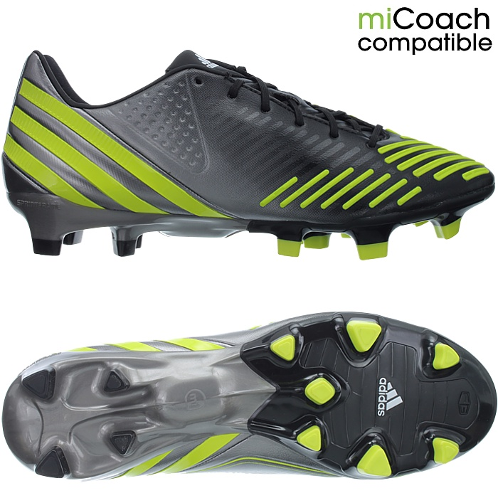 premium selection 6223d 359a8 Details about Adidas Predator LZ TRX FG black neon silver professional  men s soccer cleats