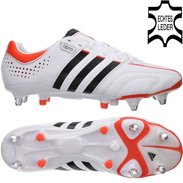 Orange Weiß Adidas Herren Fußballschuhe Adidas Fußball 11Pro