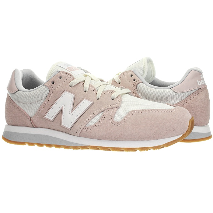 New-Balance-wl520-Rose-Ou-Gris-Femmes-Daim-Low-top-Baskets-Chaussures-NEUF miniature 7