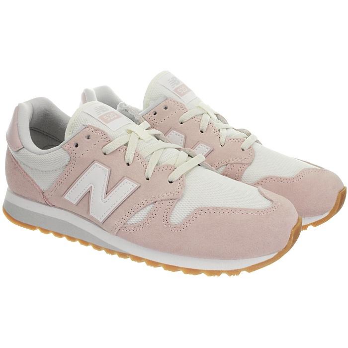 New-Balance-wl520-Rose-Ou-Gris-Femmes-Daim-Low-top-Baskets-Chaussures-NEUF miniature 8