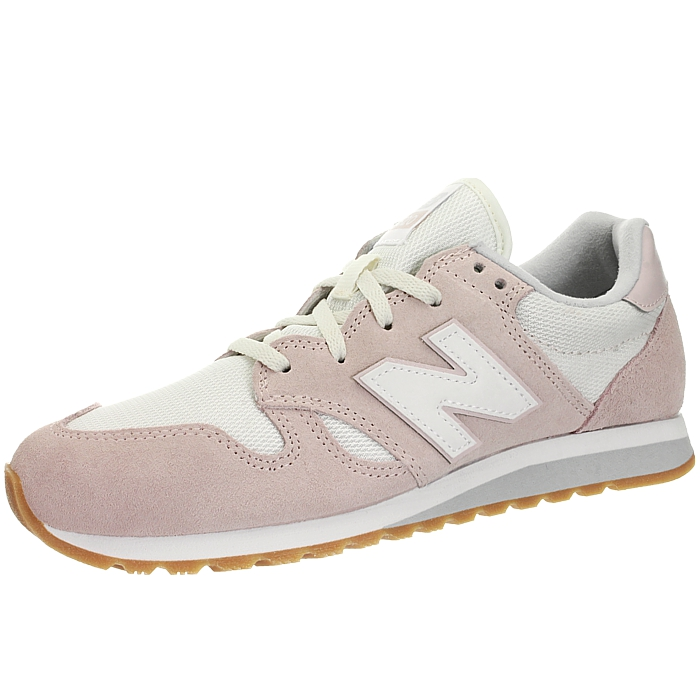 New-Balance-wl520-Rose-Ou-Gris-Femmes-Daim-Low-top-Baskets-Chaussures-NEUF miniature 9