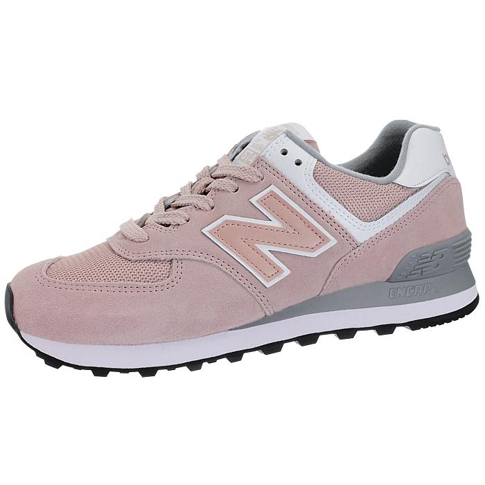 New-Balance-wl574-Femmes-Low-top-Baskets-5-Couleurs-Daim-Chaussures-Loisirs-Neuf miniature 17
