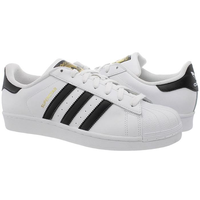 Adidas-Superstar-weis-oder-schwarz-Herren-Leder-low-top-Sneakers-Kult-Schuhe-NEU miniatuur 7