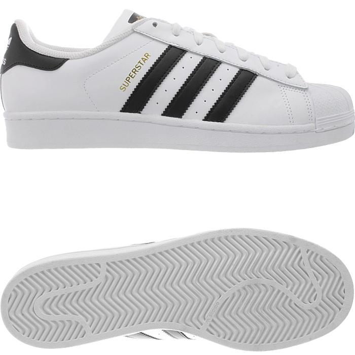 Adidas-Superstar-weis-oder-schwarz-Herren-Leder-low-top-Sneakers-Kult-Schuhe-NEU miniatuur 9
