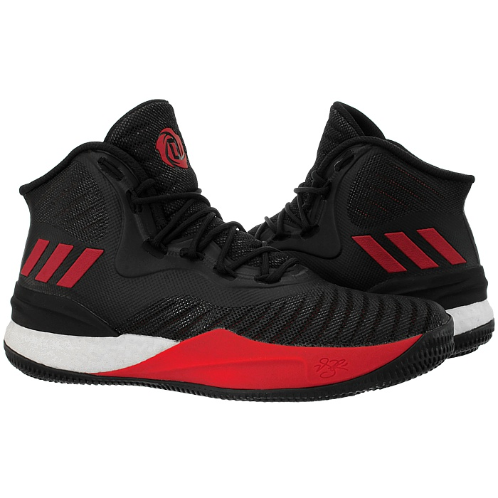 2f10c1642853 Adidas D Rose 8 men s basketball shoes boots black red black gold ...