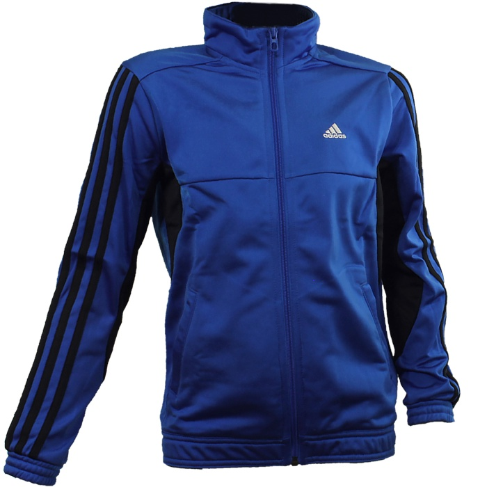 Adidas-YB-TS-Tiberio-Knit-blau-oder-rot-Kinder-Trainingsanzug-Jogginganzug-NEU Indexbild 3