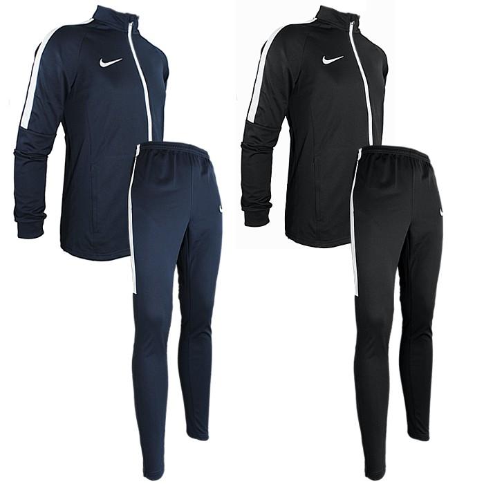 Details about Nike Academy Dri-Fit men s tracksuit black blue jogging  football suit NEW 213713d936cd6