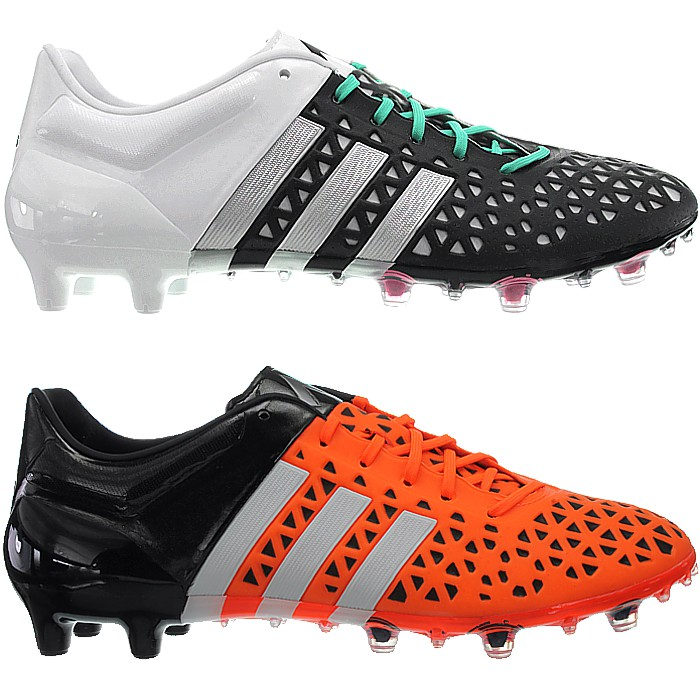 b3eeddfc844 Adidas Ace 15.1 men s soccer boots black or orange FG AG studs ...