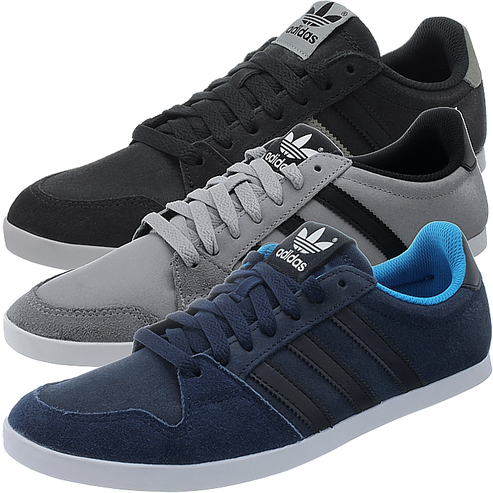 c751c51bf Details about Adidas Adilago Low men s casual shoes black gray blue low-top  sneakers suede NEW