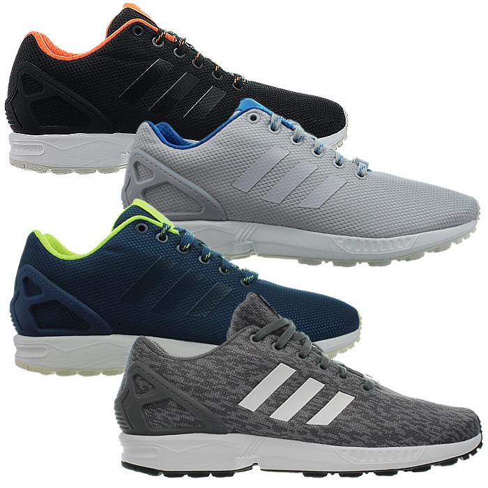6e39935441f04 Details about Adidas ZX Flux men s sneakers black gray blue casual running  shoes NEW