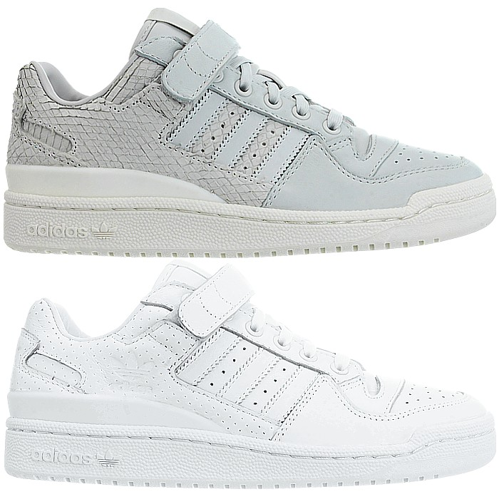Details about Adidas Forum Lo women's low top sneakers gray white casual trainers leather NEW