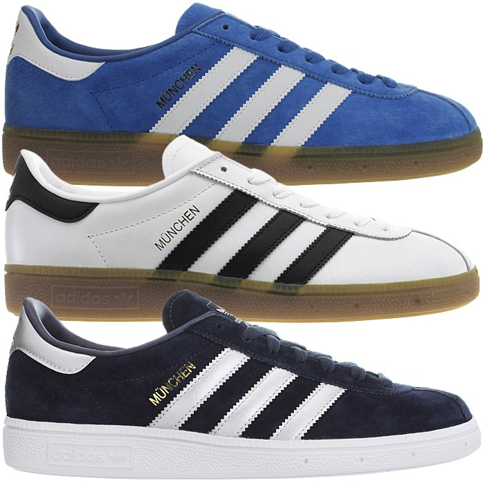 Details about Adidas München men's low top sneakers leather casual shoes trainers NEW