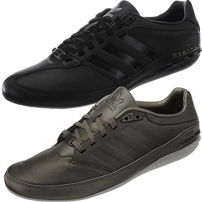 Details about Adidas Porsche Type 64 Mens Low Top Sneakers Black or Brown Leisure New show original title