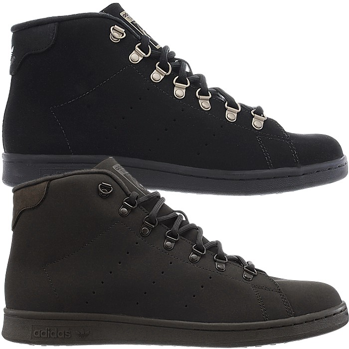 Detalles acerca de Adidas Stan Smith Winter men s mid-top sneakers black or  brown casual shoes NEW c0ece940a