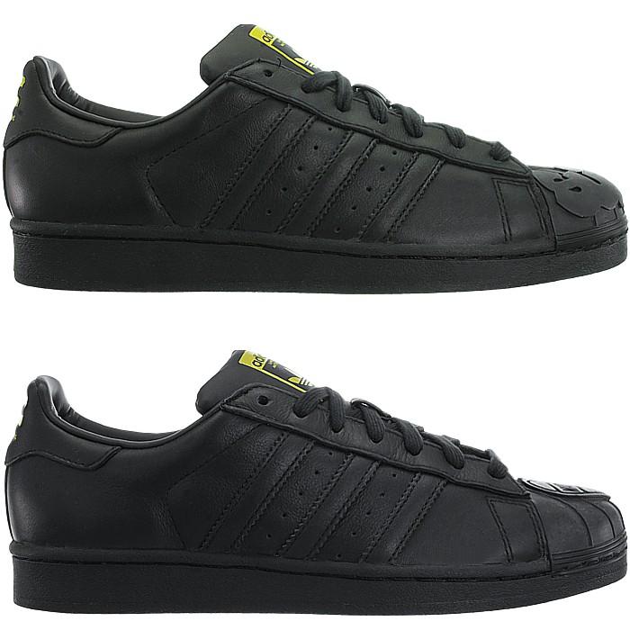 adidas superstar pharrell black