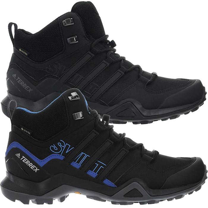latest discount new style temperament shoes Details about Adidas Terrex Swift R2 Mid GTX black Men's Goretex Hiking  Boots Shoes Gore-Tex