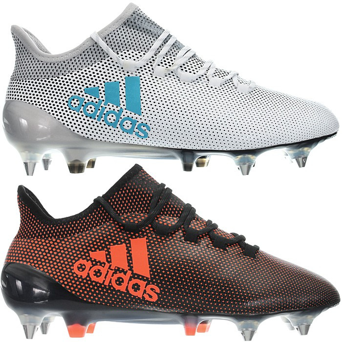 Details about Adidas X 17.1 SG white or black red Men's Professional soccer boots SoftGrund