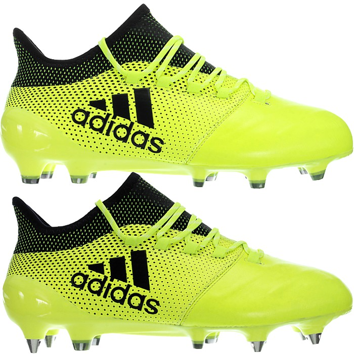 good quality entire collection huge sale Details about Adidas X17.1 LEATHER FG or SG Professional Soccer Boots shoes  yellos Men's NEW