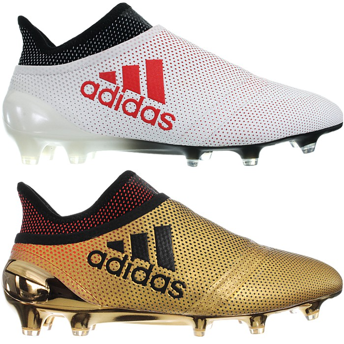 release date: 4fdef 011c7 Details about Adidas X17+ PureSpeed FG white or gold Studs prof. soccer  boots shoes dry lawn
