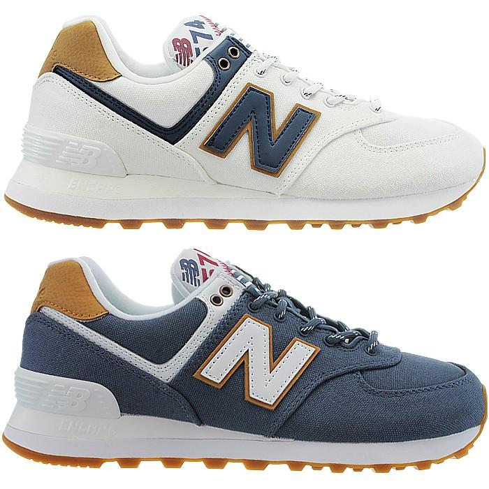 buy online 036be 29da0 Details about New Balance 574 Sea Escape women low-top sneakers white blue  casual shoes NEU