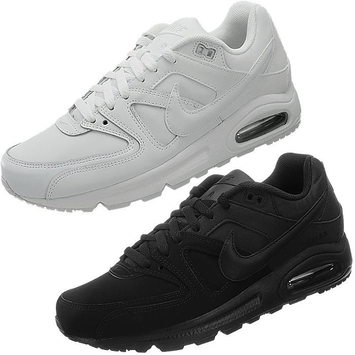 Details about Nike Air Max Command Leather men's sneakers white or black smooth leather NEW