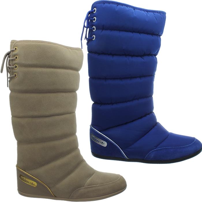Details zu Adidas Damen Wildleder Winterstiefel beige blau Northern Boot W  Schnee Fell