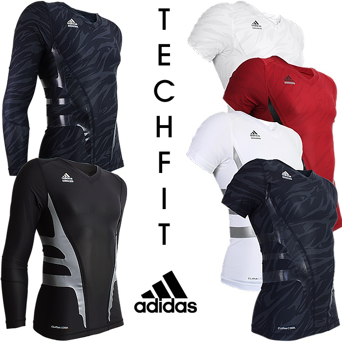 techfit shirt herren adidas